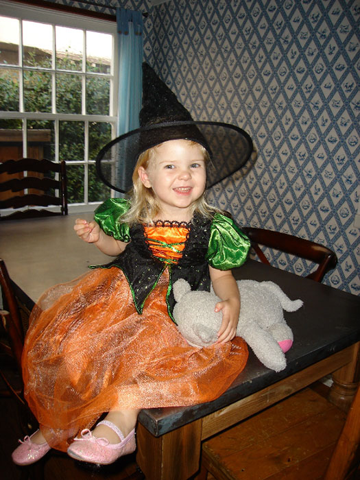 """Any sufficiently advanced technology is indistinguishable from magic."" - Clarke's Third Law [Dr. Boles' daughter at age 2 in 2009]"